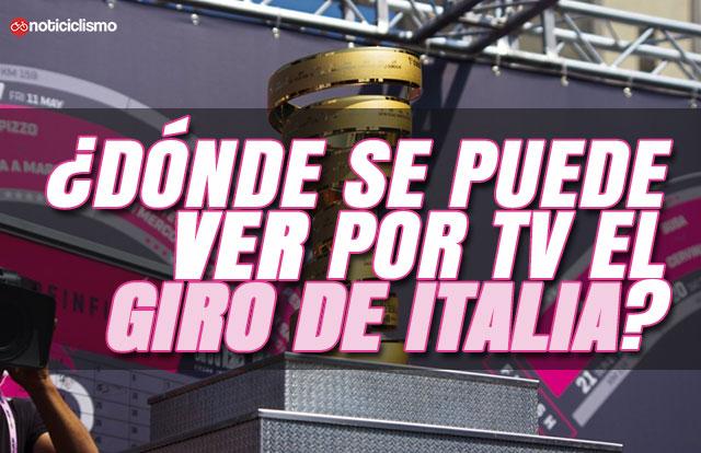 ¿Dónde se puede ver por TV el Giro de Italia 2019?