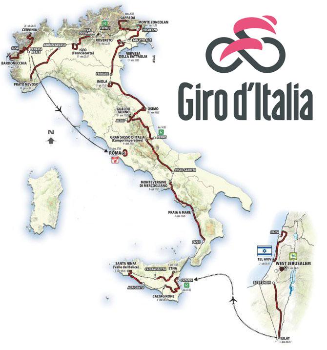 Giro de Italia 2018 - Recorrido