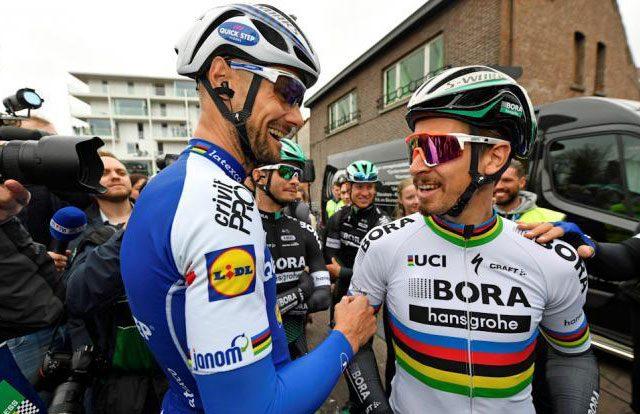 Tom Boonen y Peter Sagan
