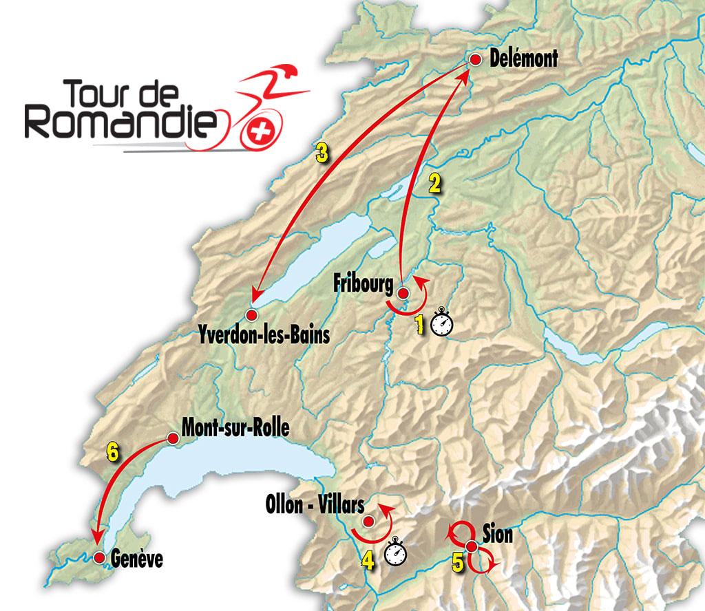 Tour de Romandía 2018 - Recorrido