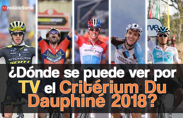 ¿Dónde se puede ver por TV el Critérium Du Dauphiné 2018?