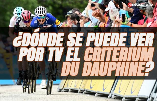 ¿Dónde se puede ver por TV el Critérium Du Dauphiné 2019?