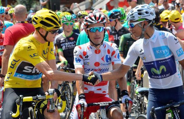 Nairo Quintana y Chris Froome en el Tour de Francia
