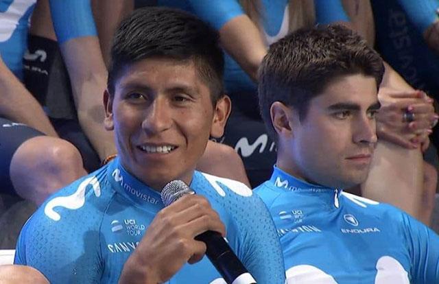 Nairo Quintana y Mikel Landa