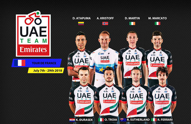 UAE Team Emirates - Tour de Francia 2018