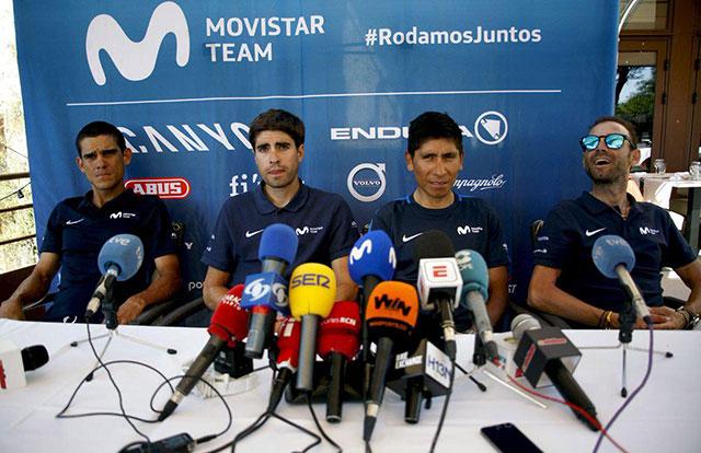 Mikel Landa , Nairo QUintaa y Alejandro Valverde