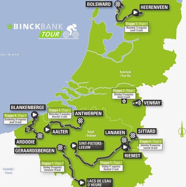 BinckBank Tour 2018 - Recorrido