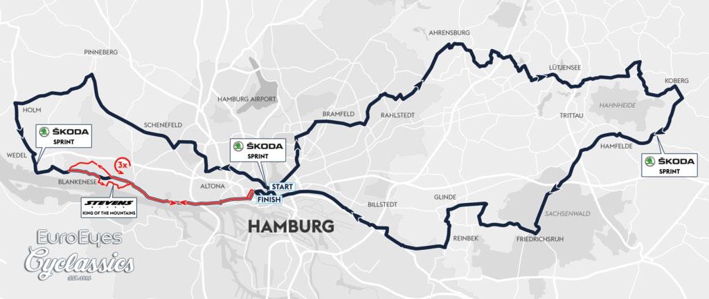 EuroEyes Cyclassics Hamburgo 2018 - Recorrido