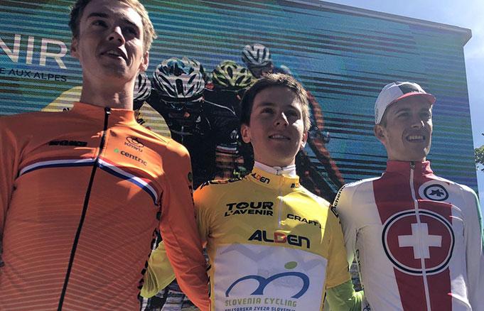 Pódium del Tour de l'Avenir 2018
