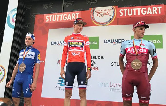 Pódium final de la Vuelta a Alemania 2018