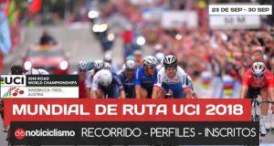 Campeonato Mundial de Ruta UCI 2018 en Innsbruck - Recorrido, Perfiles y Ciclistas Inscritos