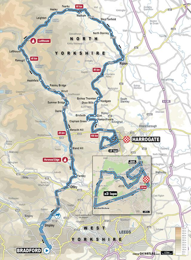Mundial de Ciclismo 2019 - Carrera de Ruta Elite Femenino - Recorrido