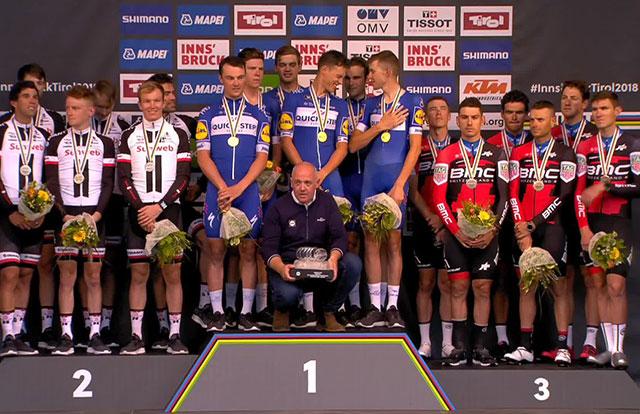 Mundial de Ciclismo – Contrarreloj Por Equipos Masculino - Pódium