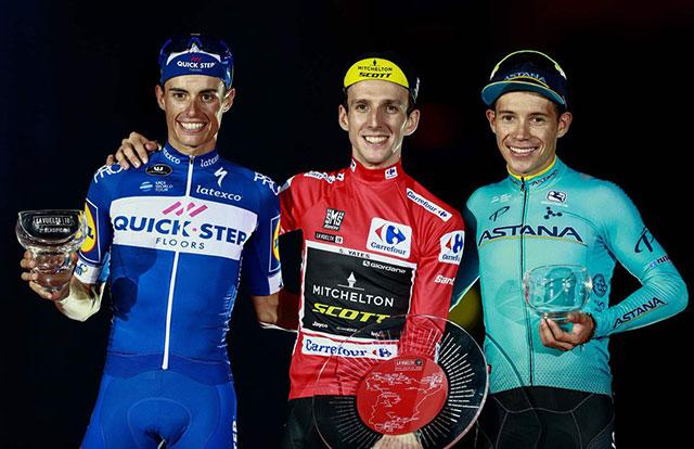 Pódium final de la Vuelta a España 2018