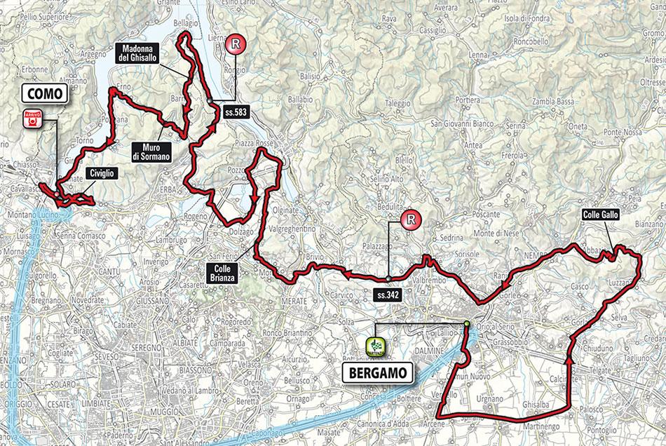 Giro de Lombardía 2018 - Recorrido
