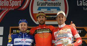Pódium de la Gran Piemonte 2018