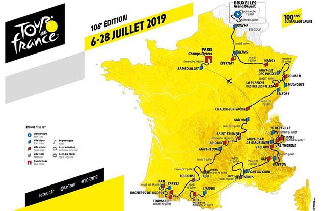 Recorrido del Tour de Francia 2019