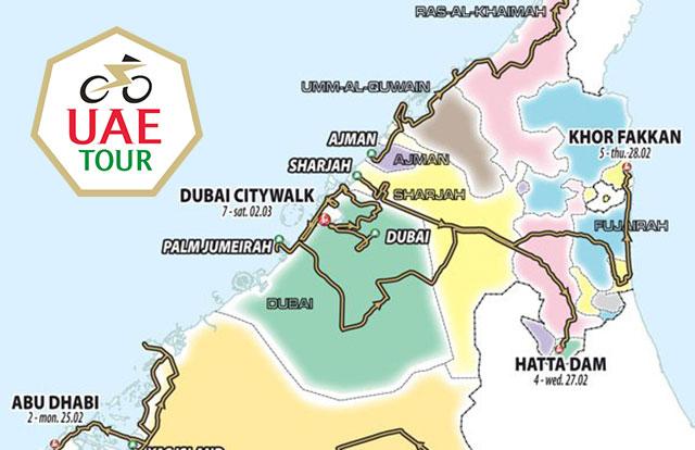 UAE Tour 2019 - Recorrido