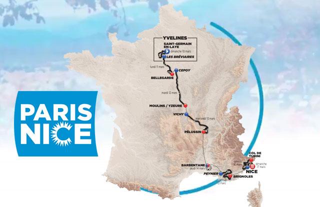 Paris - Nice 2.UWT FRA (1ª Cat)  Paris-Niza-2019-Recorrido