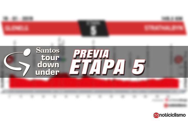 Tour Down Under 2019 - Etapa 5 - Previa