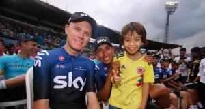 Chris Froome y Egan Bernal - Team Sky