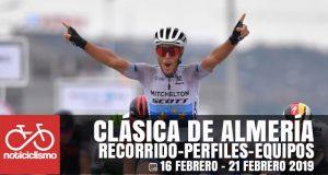 Clásica de Almería 2019: Recorrido, Perfil y Ciclistas Inscritos