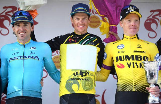 Pódium final de la Vuelta a Andalucía 2019