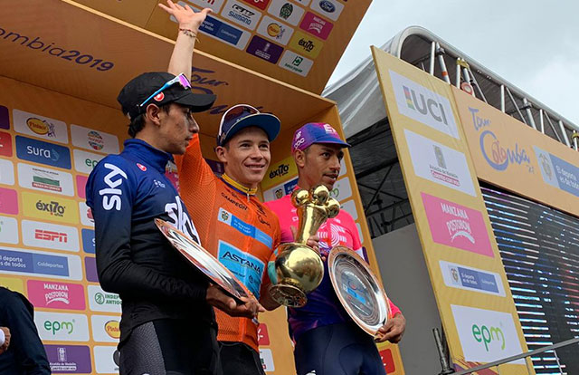 Pódium final del Tour Colombia 2019