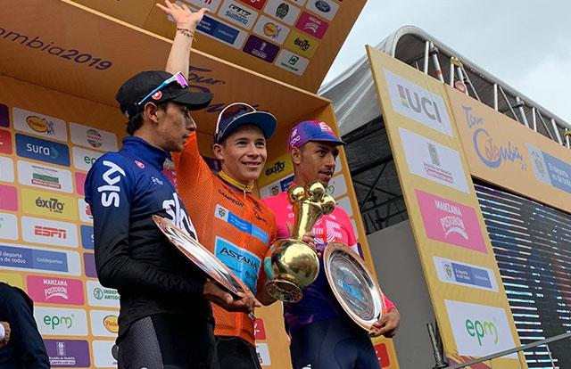 Pódium final del Tour Colombia 2019