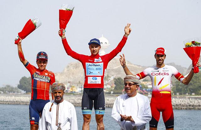 Pódium del Tour de Omán 2019