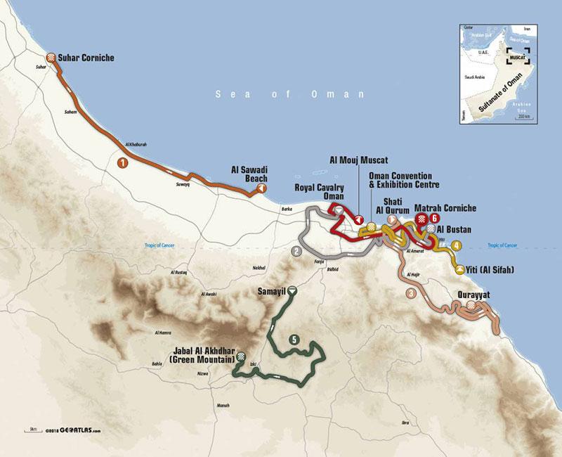 Tour de Omán 2019 - Recorrido