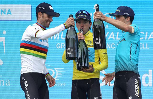Pódium de la Vuelta a la Comunidad Valenciana 2019