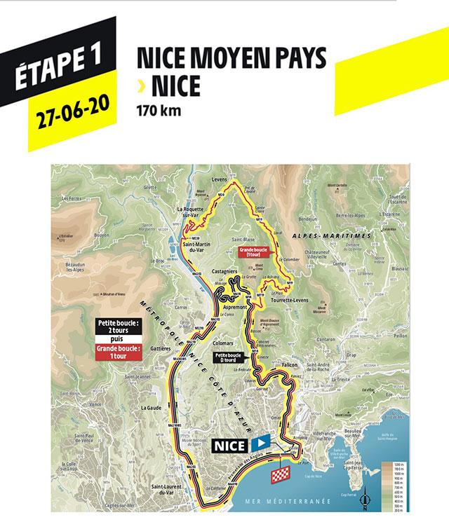 Tour de Francia 2020 - Recorrido Etapa 1