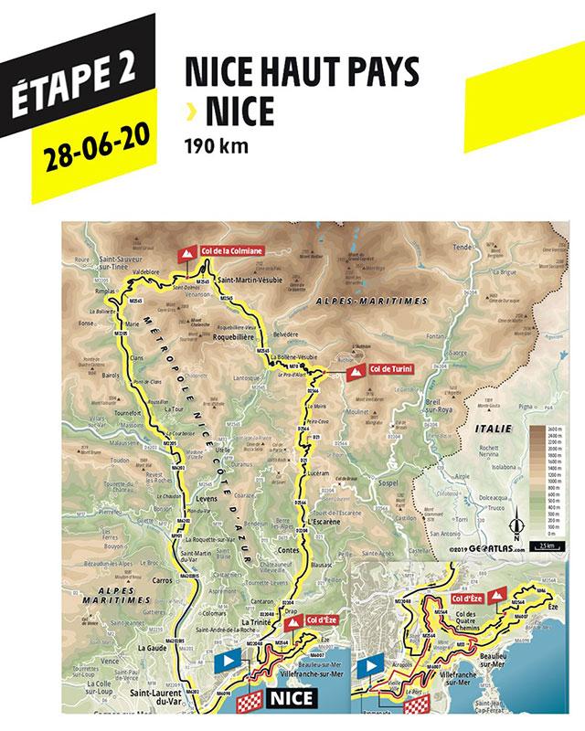 Tour de Francia 2020 - Recorrido Etapa 2