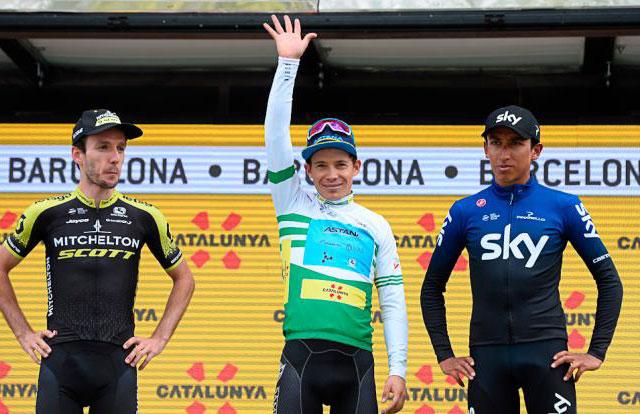 Pódium de la Volta a Catalunya 2019