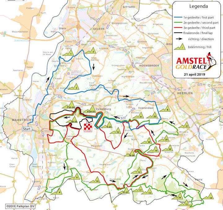 Amstel Gold Race 2019 - Recorrido