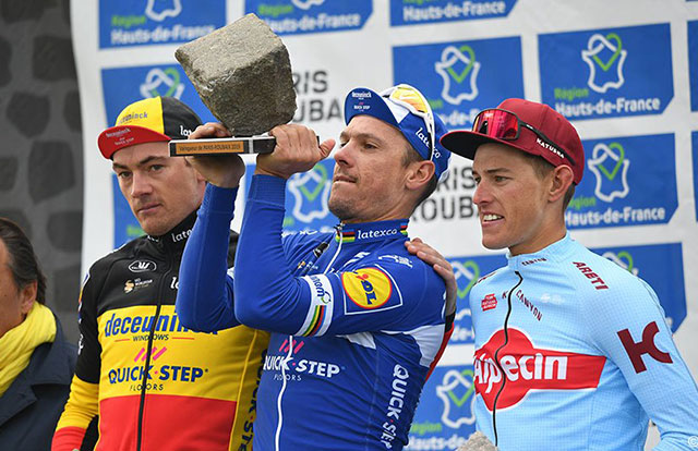 Pódium de la Paris-Roubaix 2019