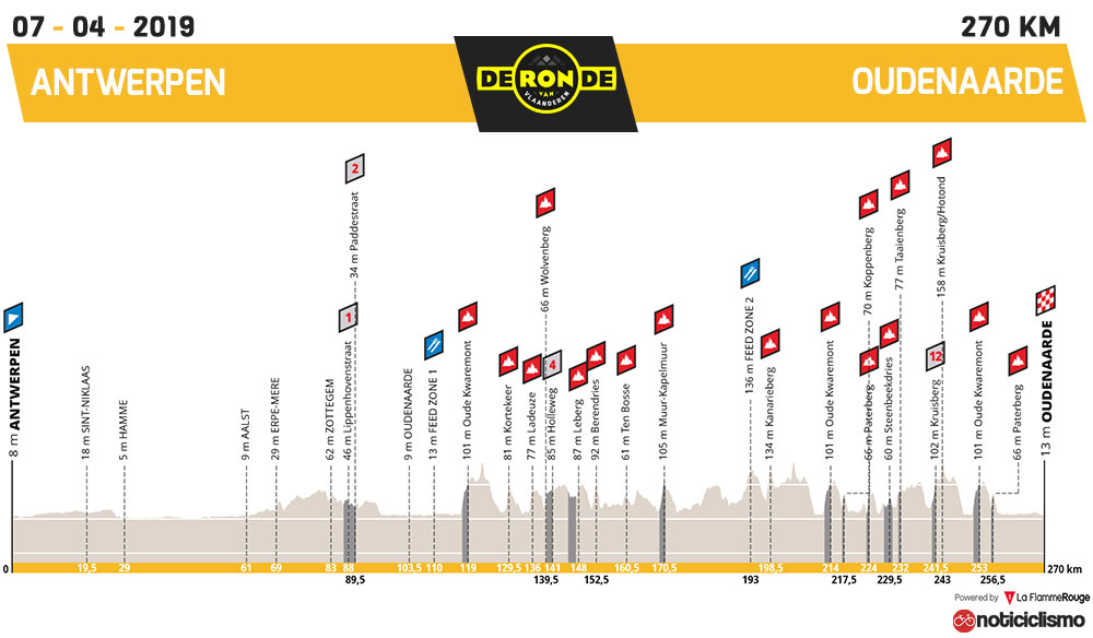 Tour de Flandes 2019 - Perfil