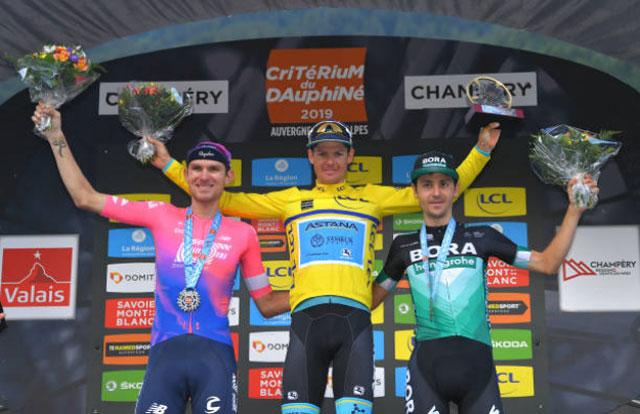 Pódium del Critérium du Dauphiné 2019