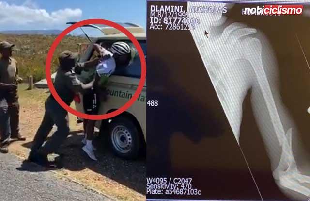Nic Dlamini es brutalmente arrestado por la policía y sufrió una fractura en el brazo
