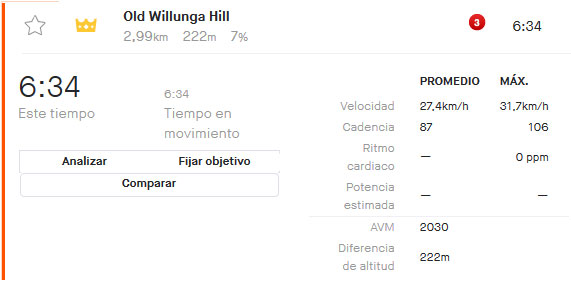 Richie Porte - Strava Willunga Hill 2020