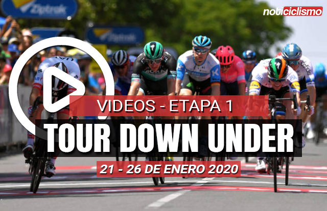 Tour Down Under 2020 (Etapa 1) Últimos 5 kilómetros y Resumen