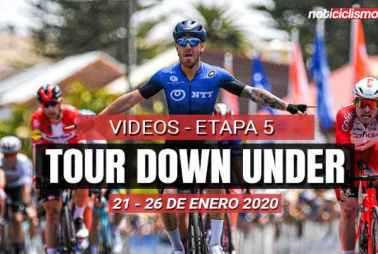 [VIDEO] Tour Down Under 2020 (Etapa 5) Últimos 5 Km y Resumen