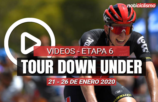 Tour Down Under 2020 (Etapa 6) Últimos 5 kilómetros y resumen