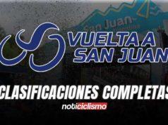 Vuelta a San Juan 2020 - Clasificaciones Completas
