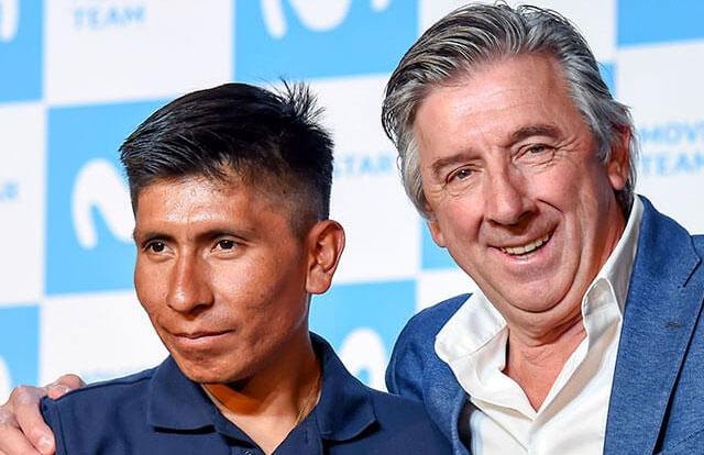Eusebio Unzué y Nairo Quintana