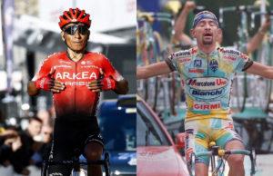 Nairo Quintana y Marco Pantani