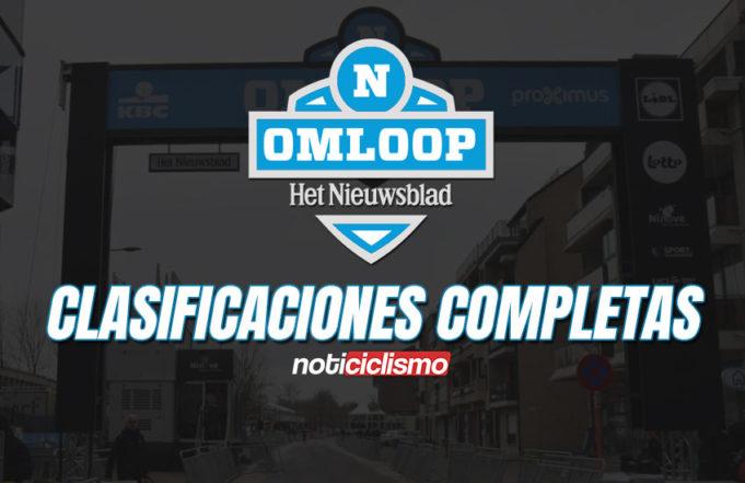 Omloop Het Nieuwsblad 2020 - Clasificaciones Completas