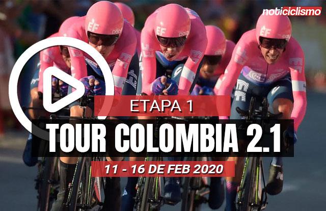 [VIDEO] Tour Colombia 2020 (Etapa 1) Últimos kilómetros