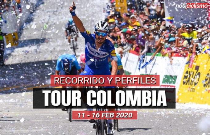 Tour Colombia 2020: Recorrido y Perfiles de Etapas